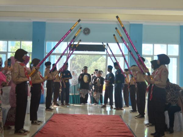 Kegiatan Pramuka Menyambut Wisudawan Wisudawati Angkatan II
